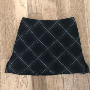 Vintage early 90's DKNY wool plaid skirt